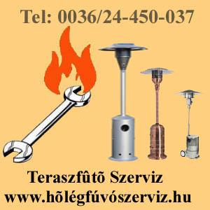 PB GÁZOS TERASZSUGÁRZÓ SZERVIZ, TERASZFŰTŐ SZERVIZ, TERSZSUGÁRZÓ FELÚJÍTÁS,  www.holegfuvoszerviz.hu